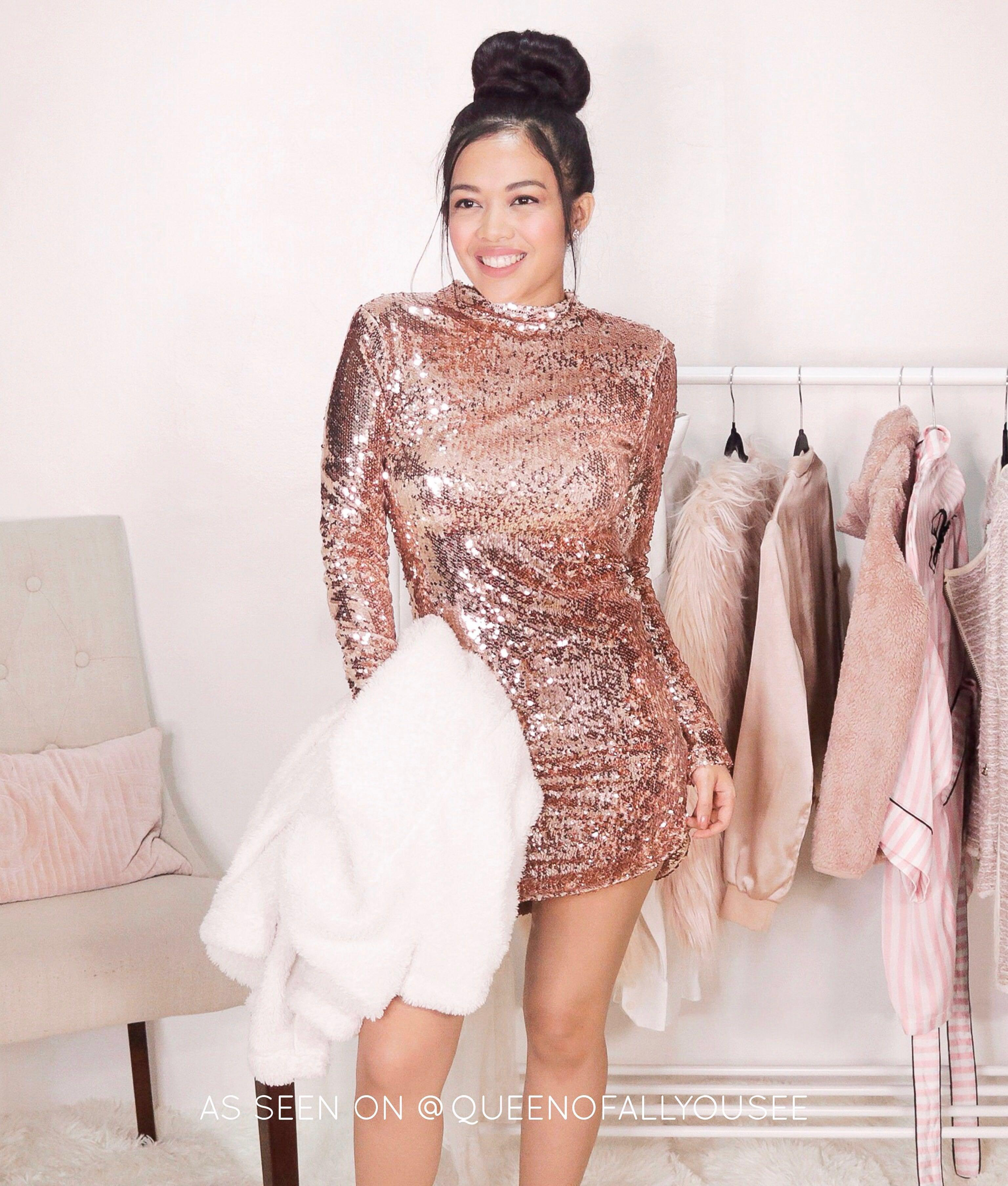 b96dc036 Fashion Nova Bestselling Rosegold Exposed Sequin Dress • very glam, sparkly,  sexy • inspired by Kylie Jenner's sequin long gown on Carousell