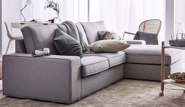 IKEA Kivik Sofa In Isunda Grey , Like Brand New, Furniture, Sofas On Carousell