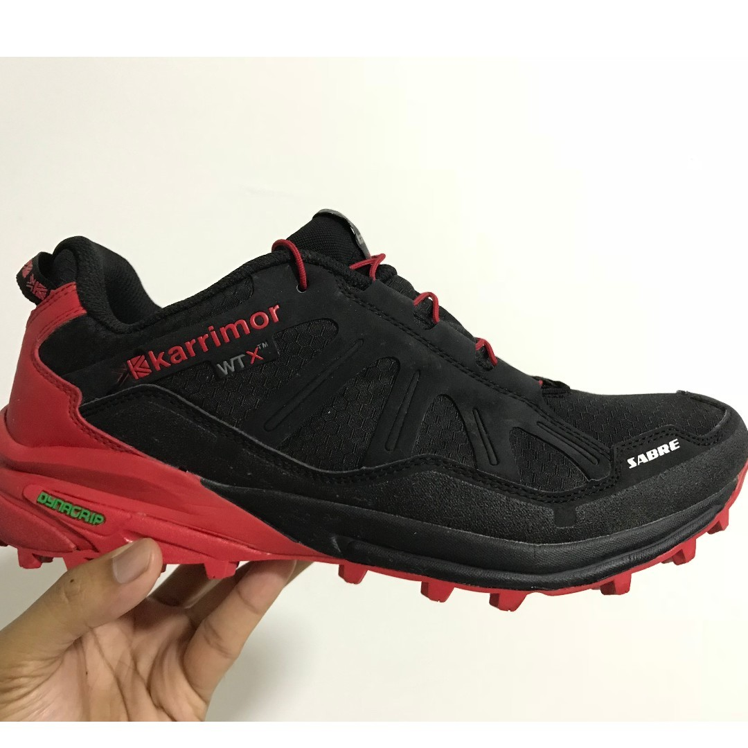 4113953c4ee Karrimor Sabre WTX Black Red Trail Running Shoes