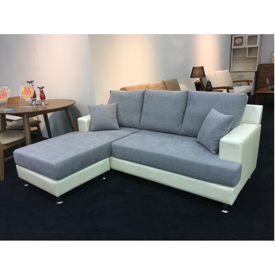 L-Shape Fabric Sofa, Furniture, Sofas on Carousell
