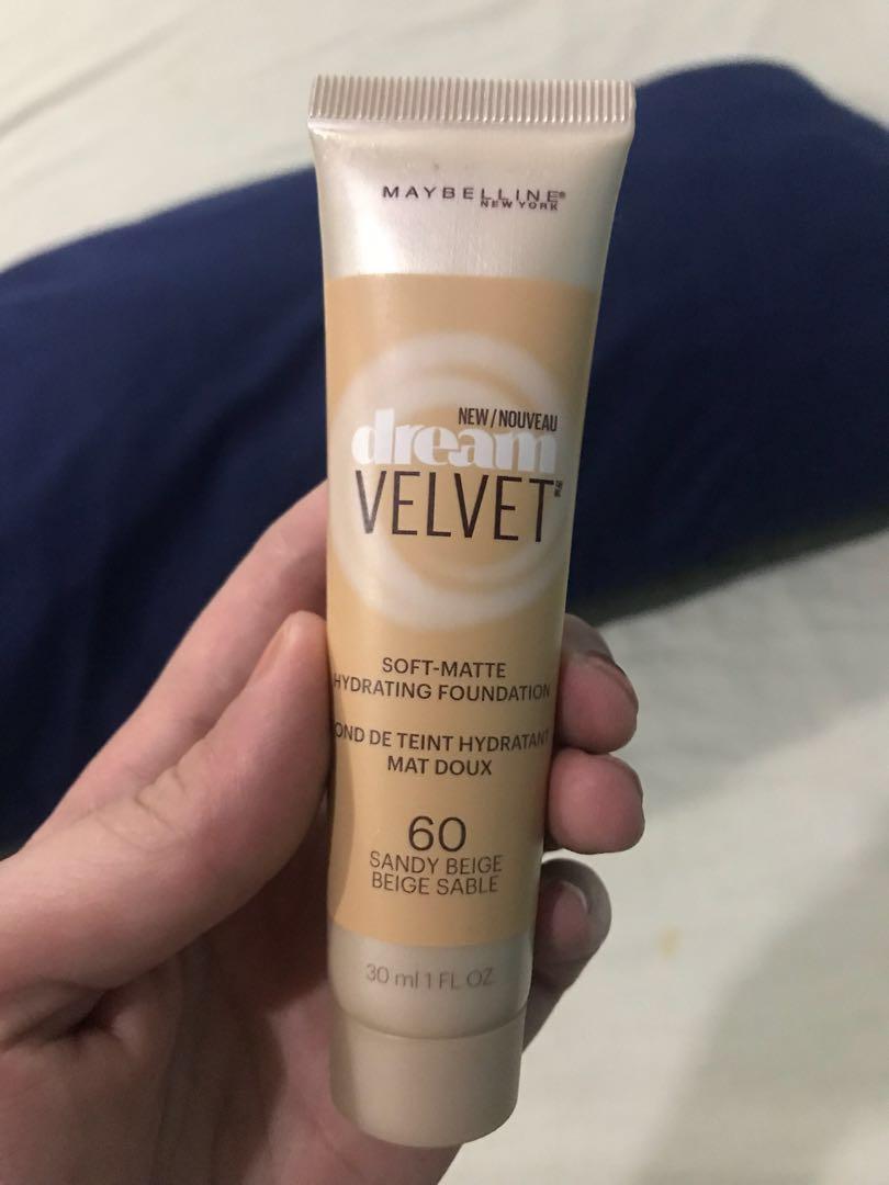 0a283e31fe4 Maybelline Dream Velvet Foundation, Health & Beauty, Makeup on Carousell
