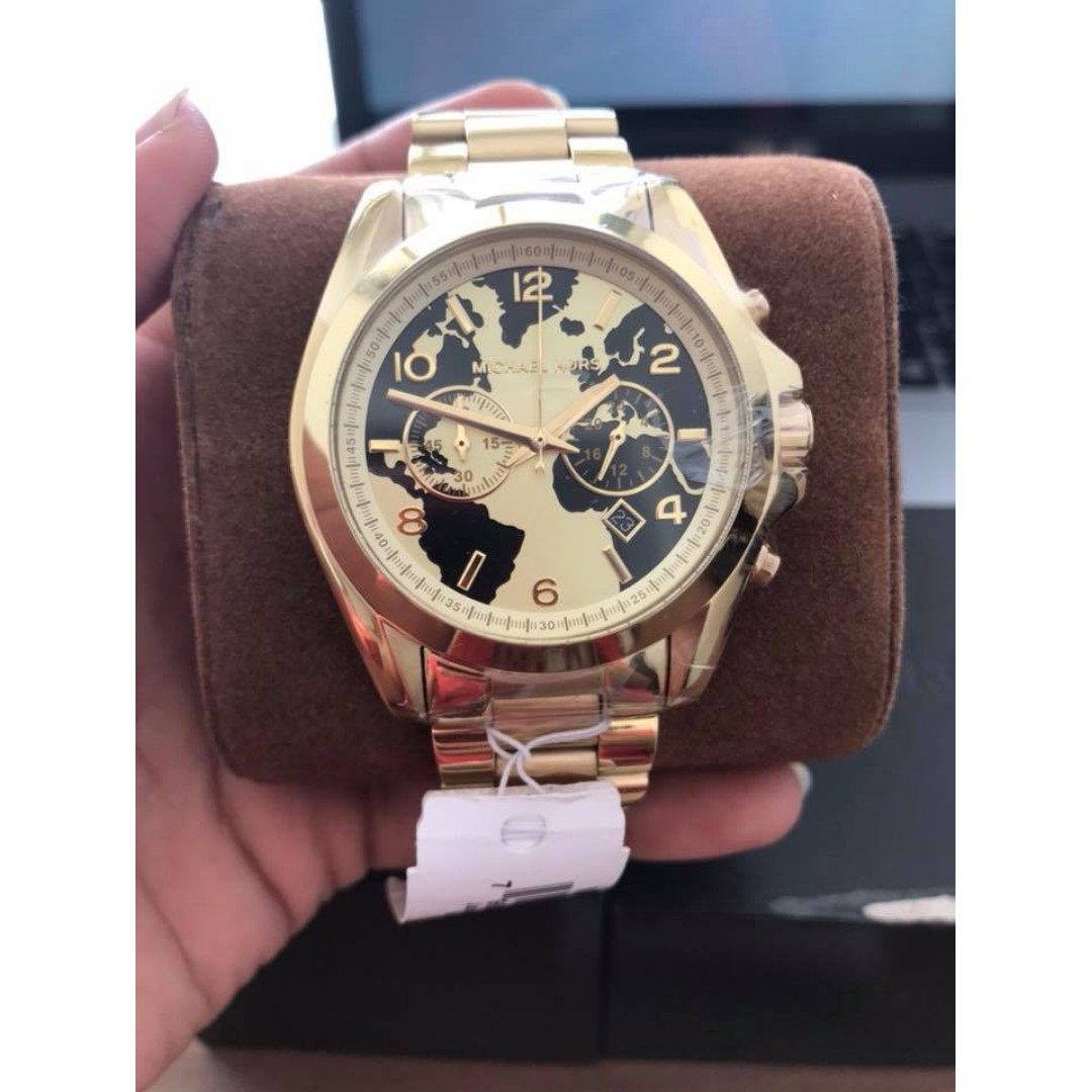 59cfb549b9c8 Michael Kors Bradshaw Hunger Stop Oversized Gold-Tone Women s Watch ...