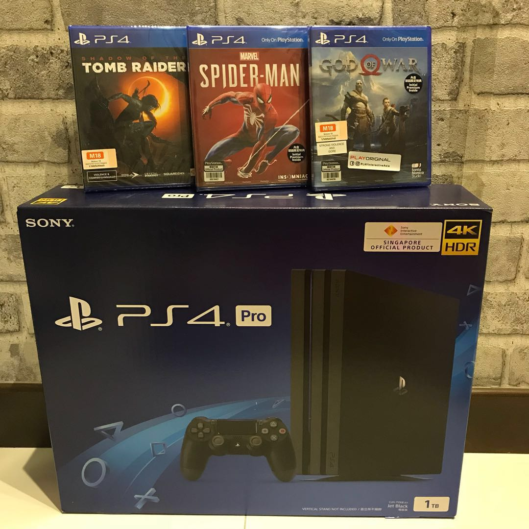New Ps4 Pro 1 Game Of Your Choice Toys Games Video Gaming Slim 500gb Cuh 2006a Jet Black Extra Controller Ds4 Model Consoles On Carousell