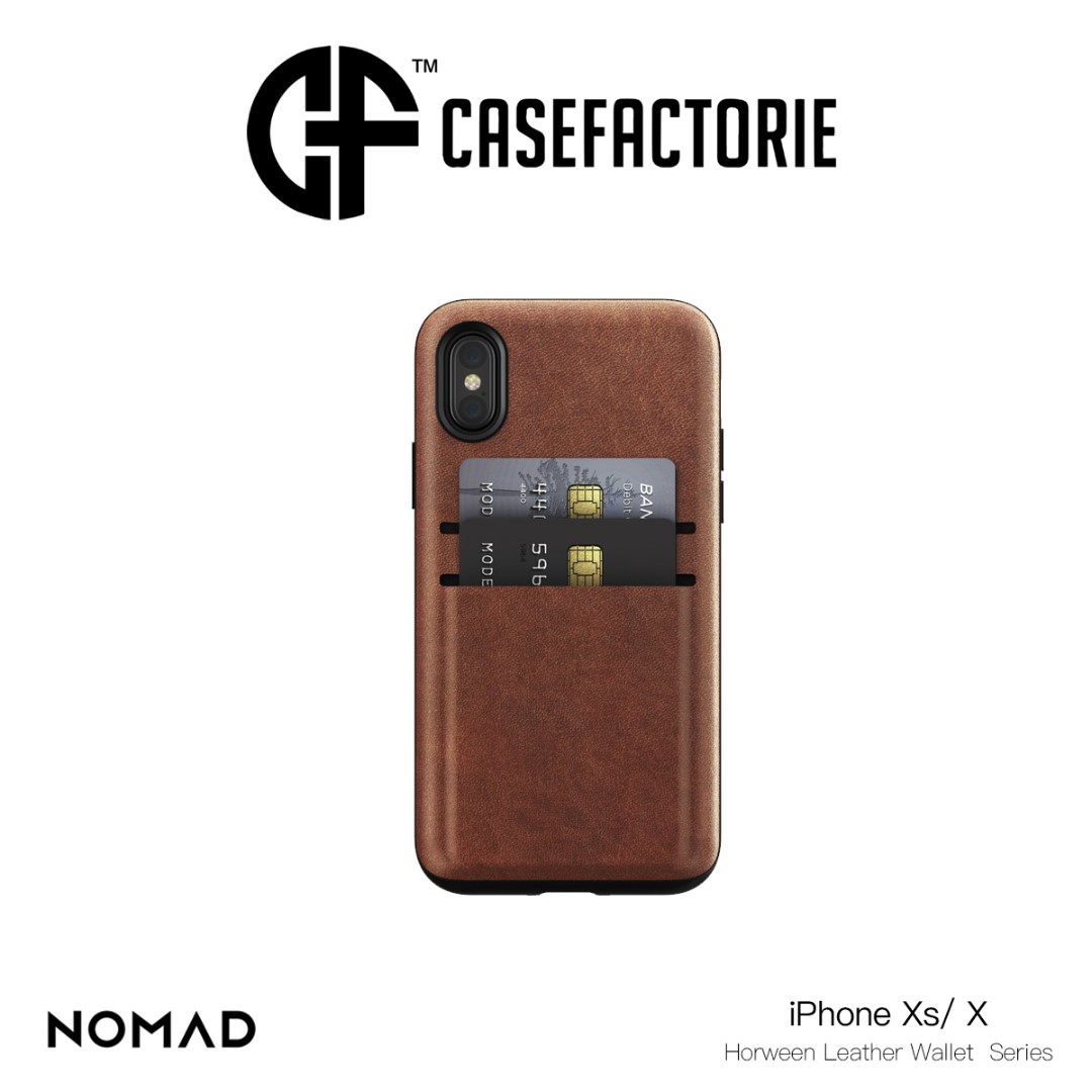 various colors dd5fe 88bb2 Nomad Horween Leather Wallet Case for iPhone Xs/ X