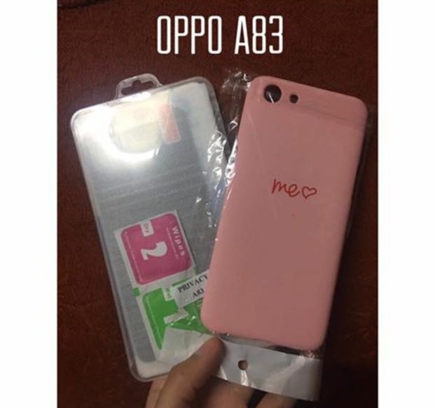 Oppo A83 case and tempered glass