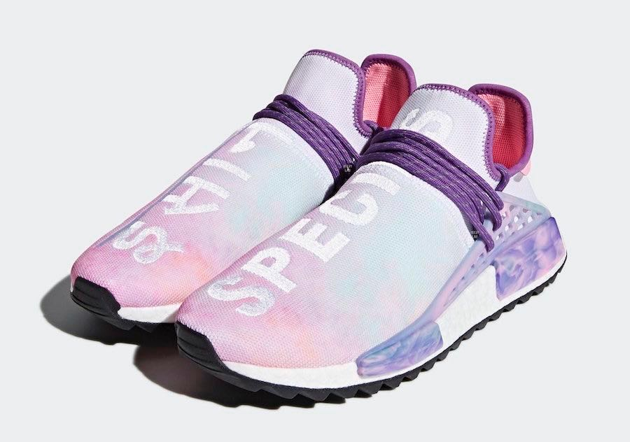 4b79366bb1c87 Pharrell x Adidas NMD Hu Trail Holi Pink Glow UK 8