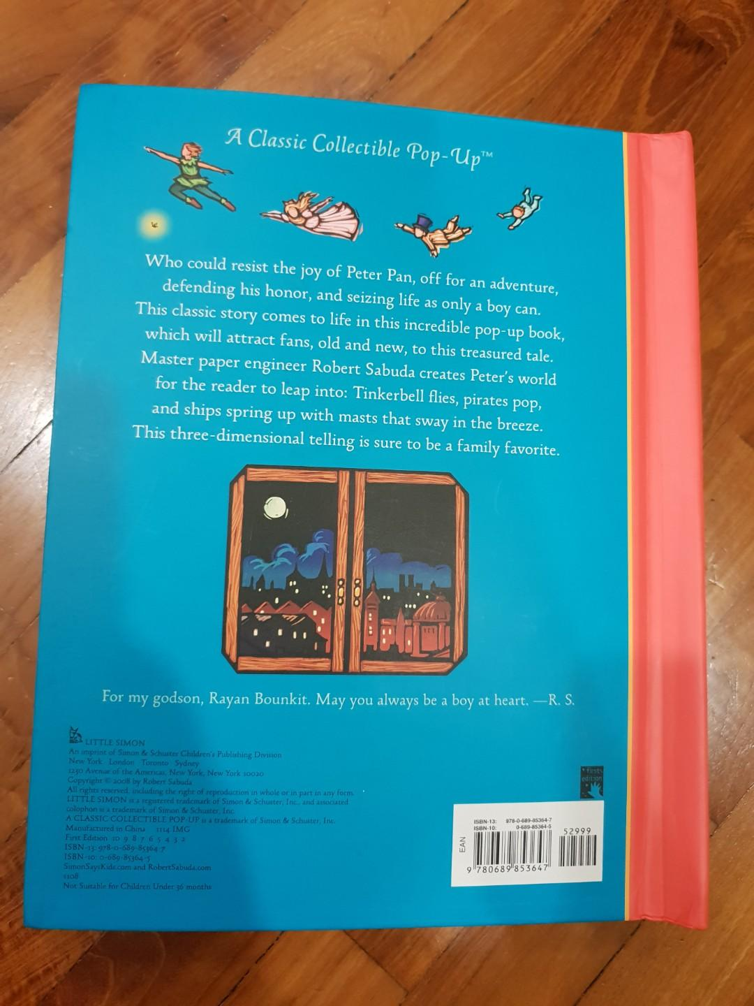Pop-up book - Peter Pan, Books & Stationery, Children's