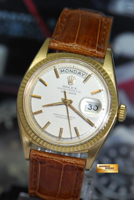 f5996f6f8dc ROLEX OYSTER PERPETUAL DAY-DATE 18K YELLOW GOLD 36mm CREAM DIAL ...