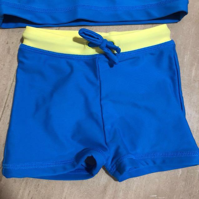 006569cfa1976 Seed Heritage Swimming Rashguard Top & Shorts (size 6-12M), Babies & Kids,  Babies Apparel on Carousell