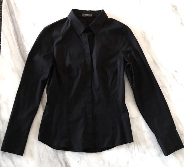 Studio W black button up shirt size 10