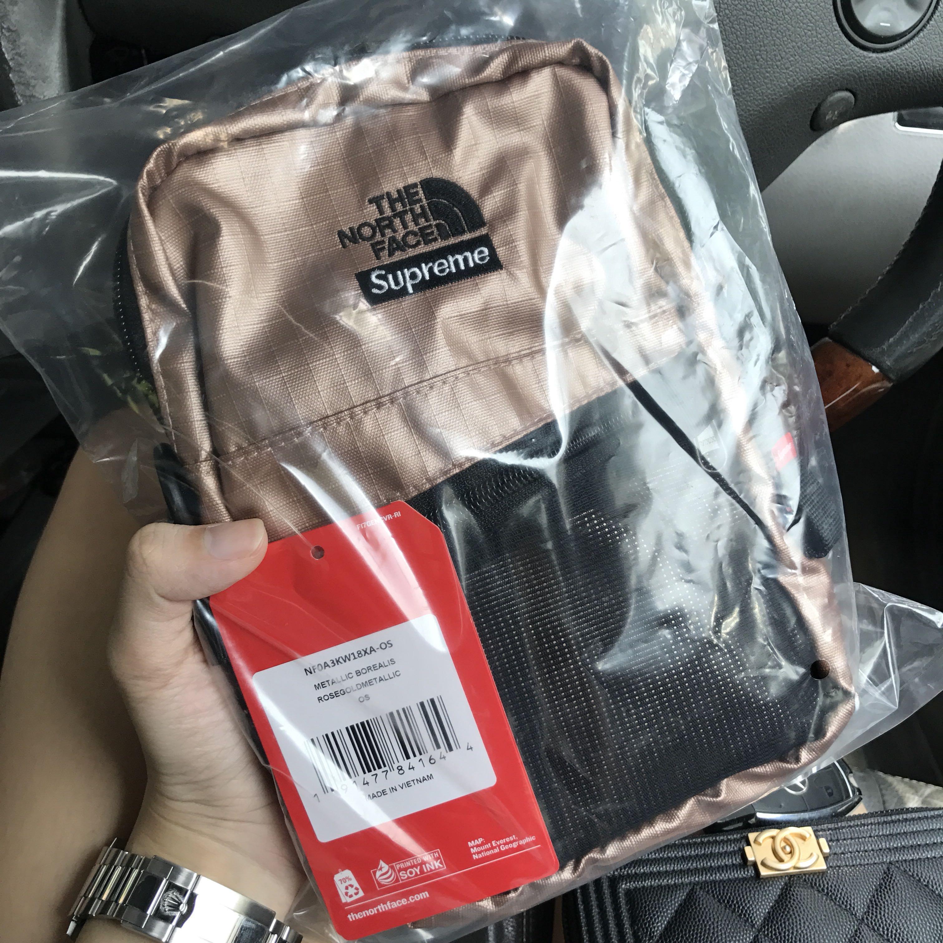4bfe5d201 Supreme x North Face Metallic Shoulder Sling Bag - rose gold, Men's ...