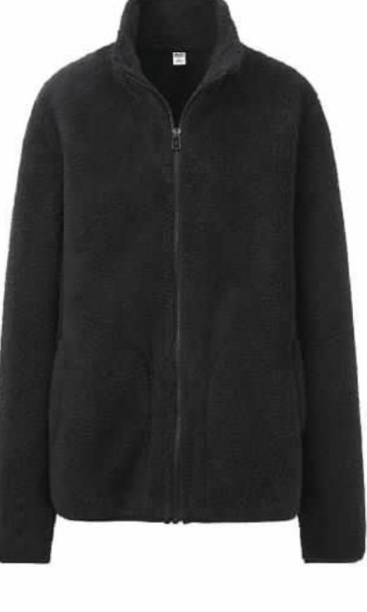 Uniqlo fluffy fleece jacket - Black