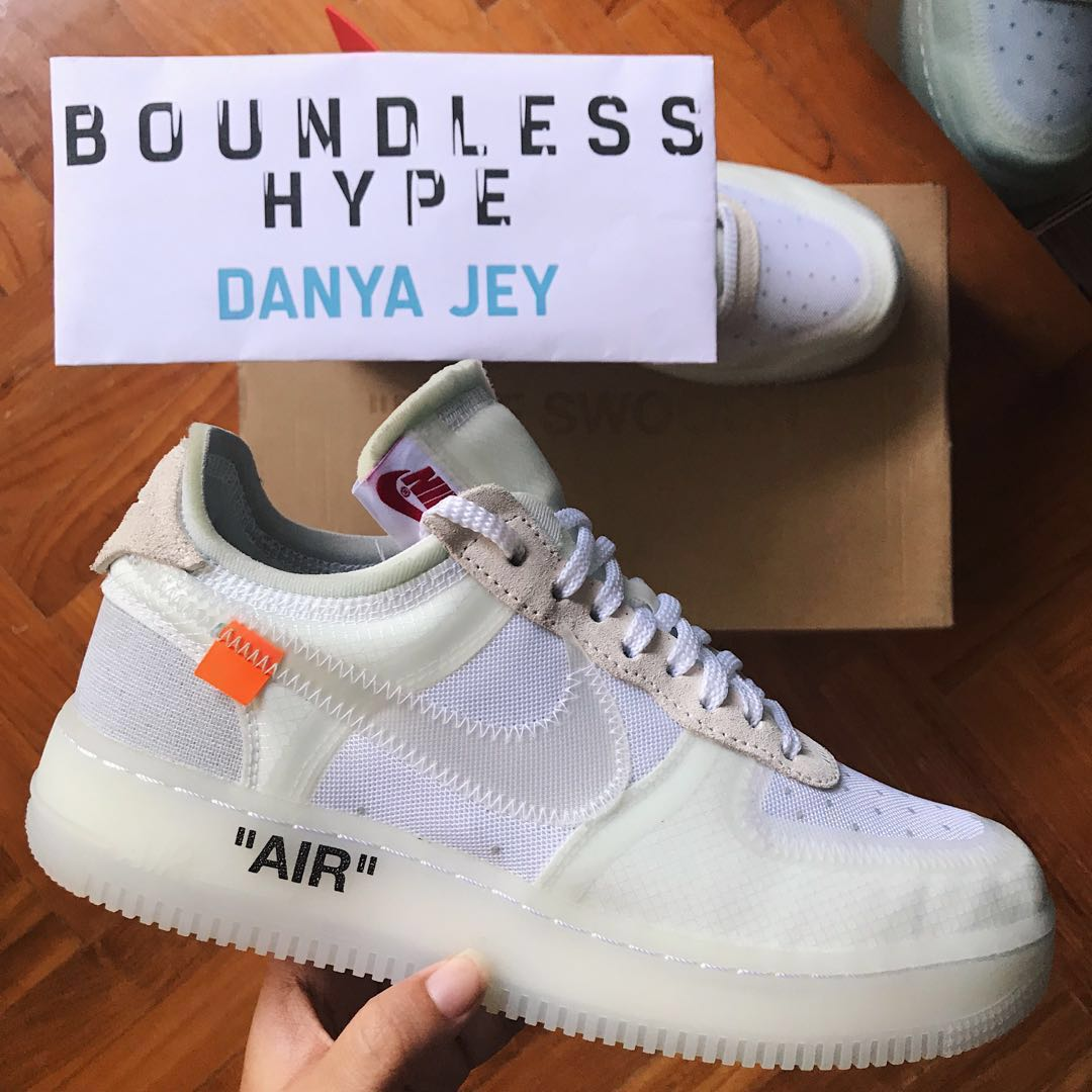 53ed1df5bae46 US 7 OFF-WHITE x Nike Air Force 1 Low (The 10), Men's Fashion ...