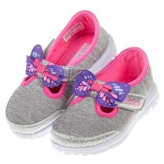 SKECHERS GO WALK系列銀灰桃紅色輕便鞋