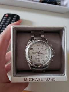 * REDUCED *MK silver watch