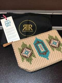 R2R Embroidered Zip Pouches
