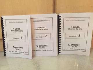 Marking Scheme Chemistry P1,2,3