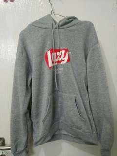 Sweater Hoodie Lazy Abu Grey tebal import lucu black oversized zara stradivarius H&M Pullbear