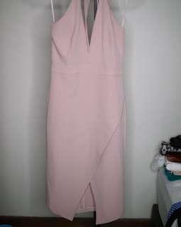 Mrs Selfridge Dusty Pink party Dress