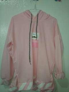 Sweater Hoodie Pink korean style tebal import lucu oversized zara stradivarius H&M Pullbear
