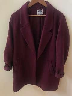 boxy coat - size large