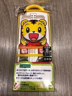 🚚 SKATER兒童便利筷匙叉餐具組(巧虎)