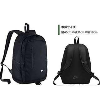 Authentic Nike Black Backpack