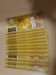 CIA S$50 Notes