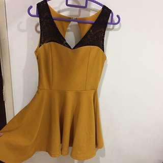 BN Mustard quality skater dress #springclean60