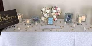 Receiving Table Setups, Party Favors & Concierge Services