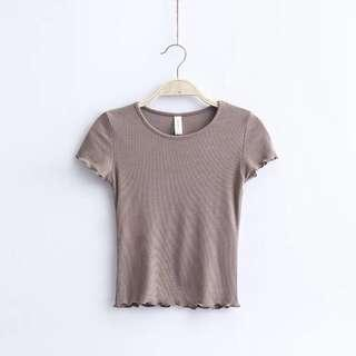 Basic Crop Top in Mocha