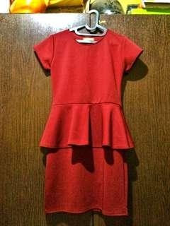 SISCA maroon dress