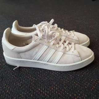 Size 7 Blush Suede Adidas Sneakers