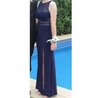NAVY BLUE FORMAL DRESS La Bella Donna