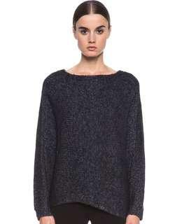 Helmut Lang Wool Asymmetrical Sweater