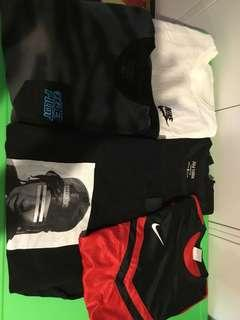 Nike & Brand name Tshirt Bundle Medium
