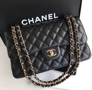 Chanel Classic Jumbo Caviar Double Flap Ghw
