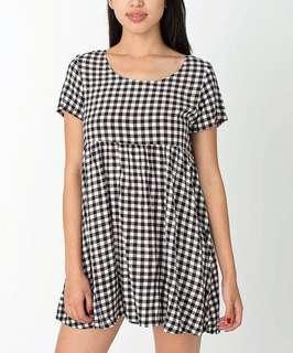 AMERICAN APPAREL GINGHAM BABYDOLL DRESS