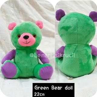 ✔Green Bear - Boneka beruang