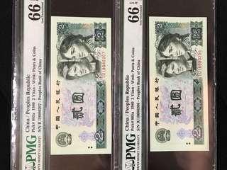 人民幣2圓X2