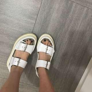 Brand new women white sandals size 39