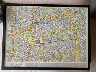Song map - framed