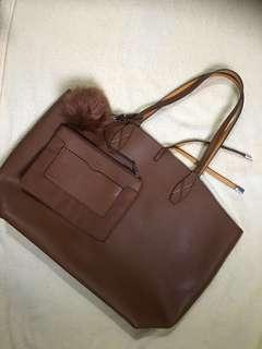 Authentic MANGO reversible tote bag repriced from 1200 to 800 pesos