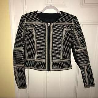 BCBG Duke Embroidered Jacquard Jacket - SIZE MEDIUM