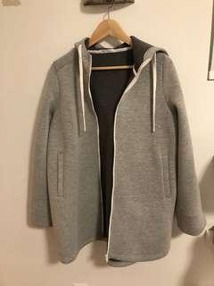 Zara oversized grey jacket