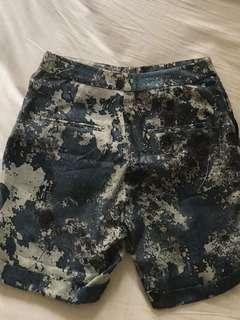 Pre loved H&M concious collection ribbed blue shorts XS