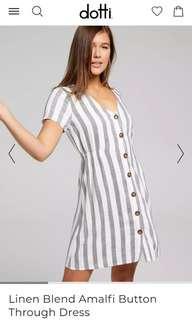 Dotti Amalfi Striped Linen Dress