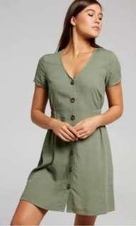 Dotti Amalfi Khak Linen Dress