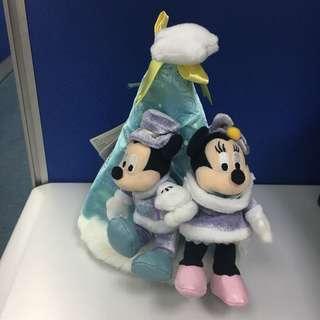 Disneyland 米奇米妮 mickey minnie 聖誕帽儲物袋