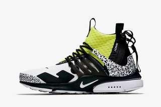 Nike X Acronym Presto White/Black/Dynamic Yellow